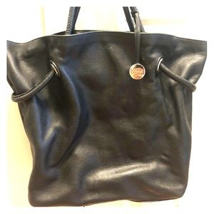 9a00f5086114 Black leather vintage Furla bag- convertible style
